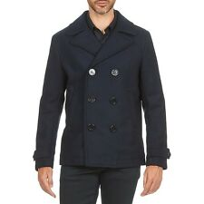 Diesel W-sami Navy Wool Blend Peacoat Size L 100 Authentic