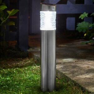 Solar Lamp Post Bollard PIR LED Path Lights Outdoor Garden Motion Sensor Lights