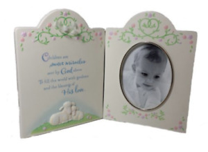 Hallmark Keepsake Picture Frame Baby's Special Moment Porcelain/Glass New in Box