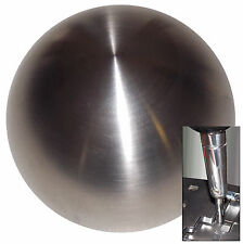 Brushed Stainless Steel shift knob for Dodge Chrys Jeep auto stick w/ adapter