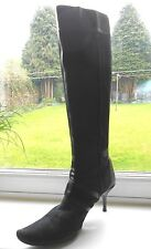 **BALLY *TERAY* QUALITY KNEE HIGH SOFTEST LEATHER & SUEDE HEEL BOOTS** SIZE 39