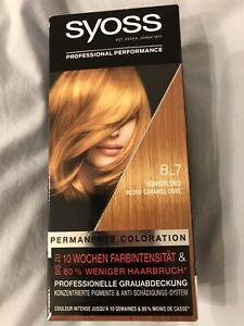 Syoss permanente coloration blond caramel doré