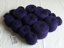 60% Cotton & 40% Polyester #0 Lace wt 9 oz Dark Purple 2 ply Recycled yarn Nice!