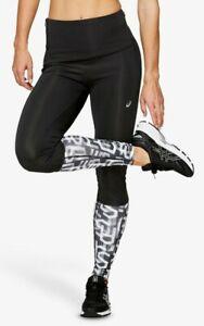 BNWT Asics Highwaist Running Tights Leggings Black Hex Size XL  RRP £32+
