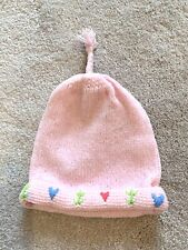 Baby Girl Pink Knitted Bow Hat Mothercare 1–12 months BNWT. Stretch. £5 RRP.
