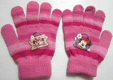 Gloves printed Minnie mouse Disney clear pink,  Size 4 for children.