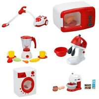 KIDS PRETEND PLAY KITCHEN APPLIANCES TOYS WASHING CLEANING VACCUM MIXER FOOD