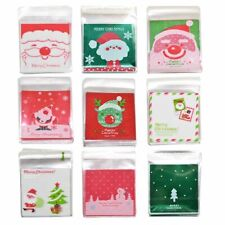 Christmas Candy Cookie Gift Bags Plastic Self-adhesive Biscuits Snack Packaging