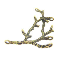 5X Vintage Style Bronze Tone  48*26*3mm Branch Pendant Charms Findings