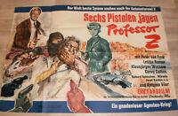 A0 Filmplakat SECHS PISTOLENJAGEN PROFESSOR Z, PETER VAN EYCK ,LETITIA ROMAN,