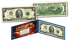 LUCKY MONEY 7's with 777 in the Serial Number - E Series U.S. $2 Bill with Folio