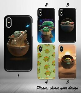 Mandalorian Baby Yoda case for iphone 11 12 pro max XR X XS SE 2020 8 7 6 5 + SN