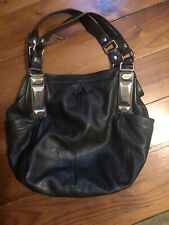 Extra Large Black Pebbled Leather Purse Tote Bag By B Makowsky