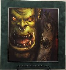 """""""ORC"""" By Justin Thavirat Pro Matted Print World Of Warcraft, WOW, Horde Blizzard"""
