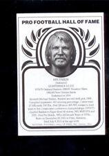 2016 HOF Metallic KEN STABLER Oakland Raiders Hall of Fame Metal Card