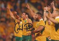 AUSTRALIA RUGBY: NICK PHIPPS SIGNED 6x4 ACTION PHOTO+COA *WALLABIES*
