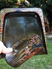 Antique Japanese Lacquer SILENT BUTLER & SCRAPER Figures