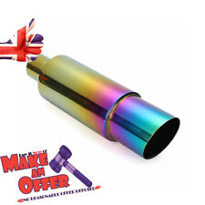 Car Rear Exhaust Pipe Racing Tail Muffler Tip Pipe Universal 304 Stainless Steel