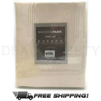Madison Park Casual Count Cotton Bed Sheets TWIN Size IVORY 3 Pcs Set MP20-1803