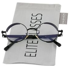 Round Steampunk Glasses Sunglasses Men Women Metal Fashion Designer Black Clear