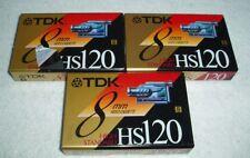 TDK 8mm HS120 High Standard Video Cassette Tape - Lot of 3