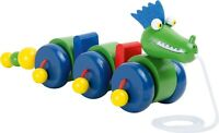 Wooden Pull Along Green Dragon Children's Toy Christmas Gift