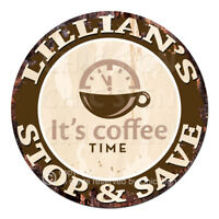 CWSS-0098 LILLIAN'S STOP&SAVE Coffee Sign Birthday Mother's Day Gift Ideas