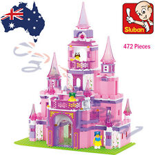 Sluban Princess Pink Dream Castle Building Blocks Horse Lego Compatible AU
