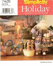 Simplicity 7426 NOAHS ARK Doll Animals Sewing Pattern Christmas Holiday UNCUT