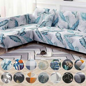 Stretch Sofa Cover Couch Lounge Slipcover Protector 1 2 3 4 Seater L Shape Cover
