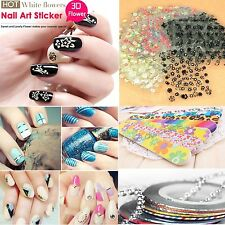 Nail DIY Kits Nail Art Transfer Stickers 3D Design Manicure Tip Decal Decoration