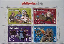 Zwitserland - Veldeel van 4 Philswiss club zegels (1)