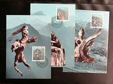 TIMBRES DU LIECHTENSTEIN : 1984 CARTES MAXIMUM TRISONA -  TBE