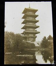 Glass Magic lantern slide CHINESE PAGODA BRUSSELS C1900 BELGIUM . L60