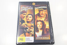 """""""Preowned"""" The lives of a Bengal lancer + Unconquered - DVD - Region 4"""