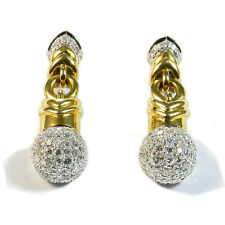 Exklusive Diamant Ohrringe 1.36 ct Brillant Ohrstecker 750 Gold Diamond Earrings