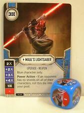 Star Wars Destiny - 1x #008 Maul's Lightsaber + Die - blue - Legacies