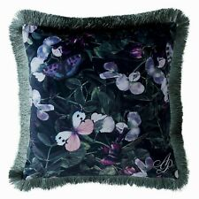 Agent Provocateur butterflies & floral boudoir cushion NEW emerald green velvet
