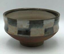 SARAH DUDGEON Checkerboard Design Art Studio Pottery BOWL