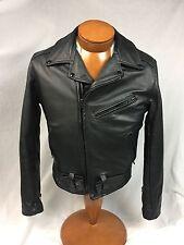 * Willis & Geiger * Rare! Thinsulate Leather Biker Motorcycle Jacket Sz. 36 USA!