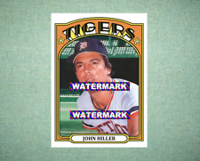 John Hiller Detroit Tigers 1972 Style Custom Baseball Art Card