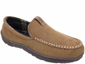 Signature by Levi's Men's Brown Venetian Moccasin Slip-on Slippers Shoes: S-XL