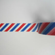 10m roll 15mm blue and red barber shop airmail stripe washi masking tape
