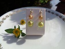 Ohrringe mit Murano-Perlen, Blattgold, 585 Gold Filled