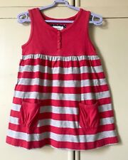 Boden Tunic Top , Age 5-6, Red & Grey Striped With Pockets, Excellent Condition!