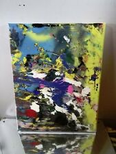 CANVAS Authentic Painting Artist MUSK YAI 11x14 ABSTRACT ART MODERN ART NYC
