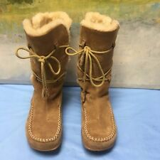 Earth DEER BROWN Faux Shearling Thinsulate Mukluk Winter Womens Boots 6 B