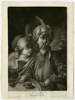 Antique Master Print-ALLEGORY-ASIA-PIPE SMOKING-Anonymous-ca. 1770