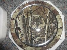 "Bradford Exchange Northwoods Spirit ""Evening Respite"" plate"