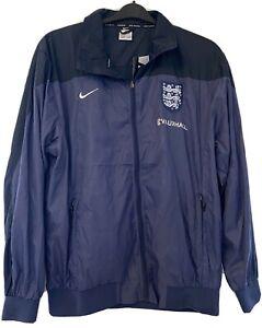 Nike England Vauxhall Men's Football Wind Breaker Rain Jacket Size XL Navy
